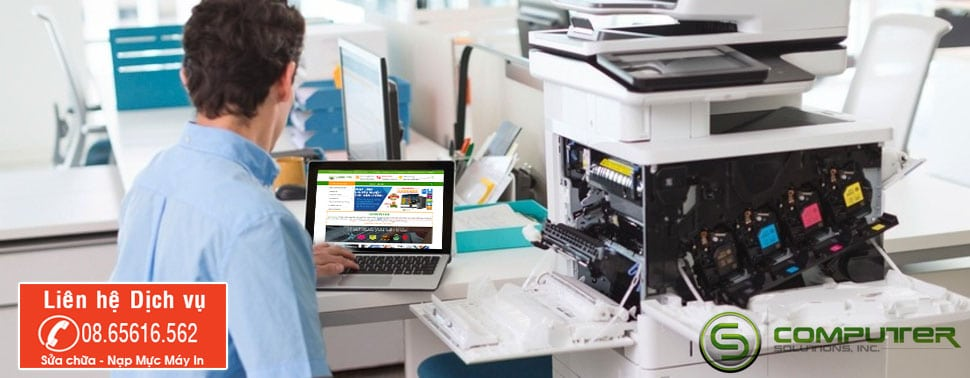 sua chua nap muc may in scomputer